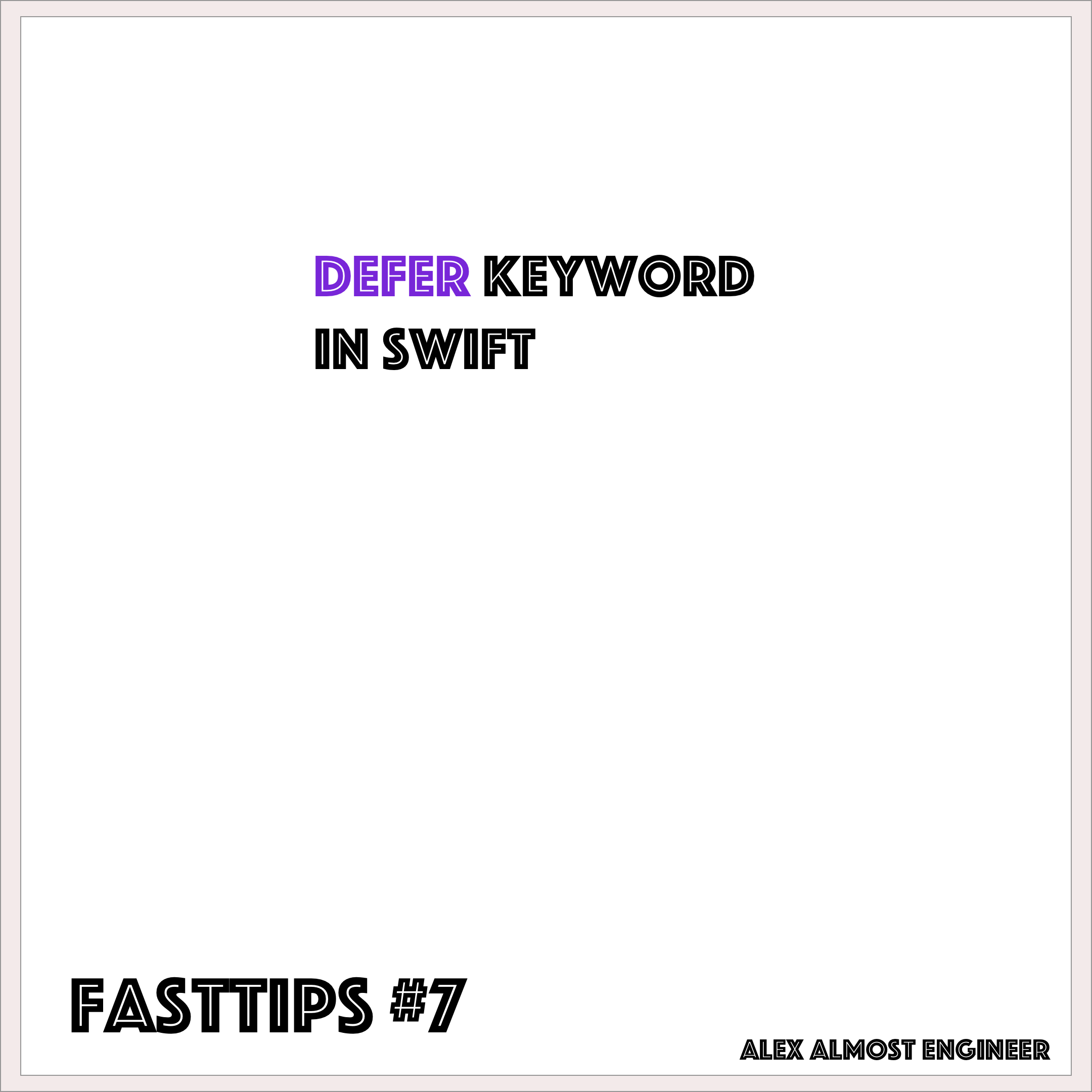 Defer keyword in Swift
